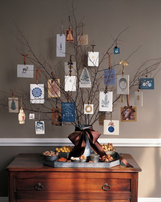 Clever and creative ways to display your Christmas cards.