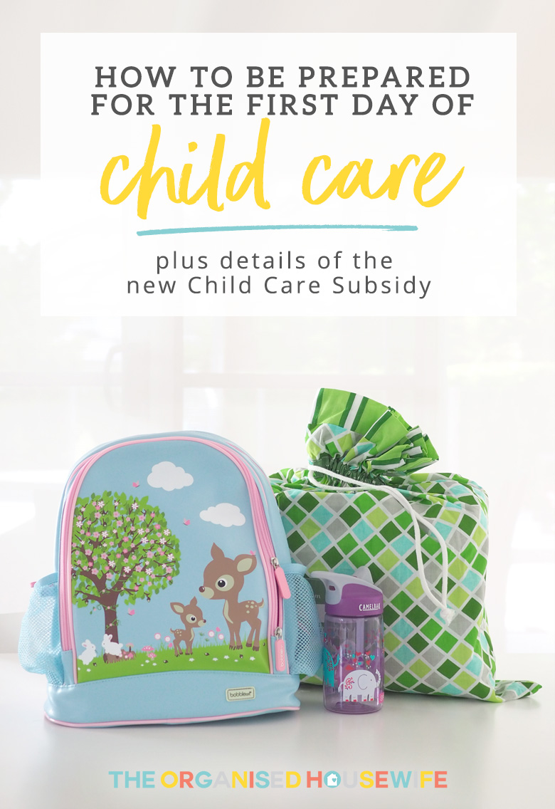 How to be prepared for the first day of child care