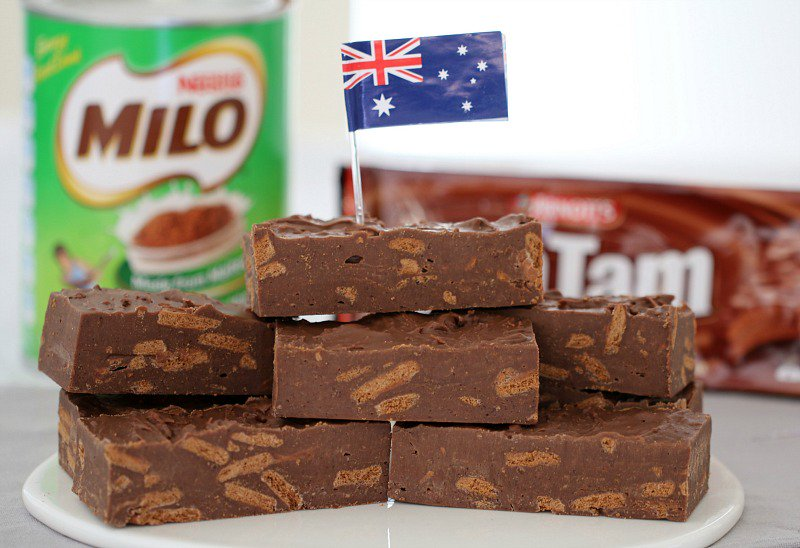 Microwave Tim Tam and Milo Fudge recipe