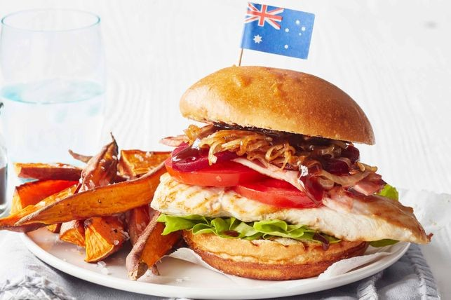 Aussie Chicken Burger recipe for Aussie Day