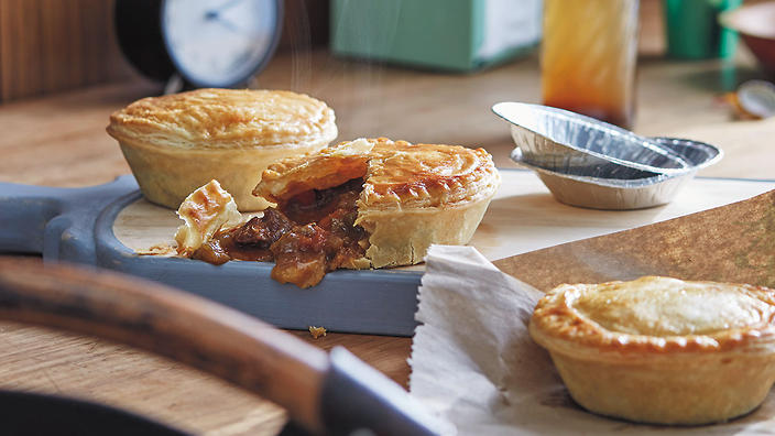Australia Day beef pies with Vegemite