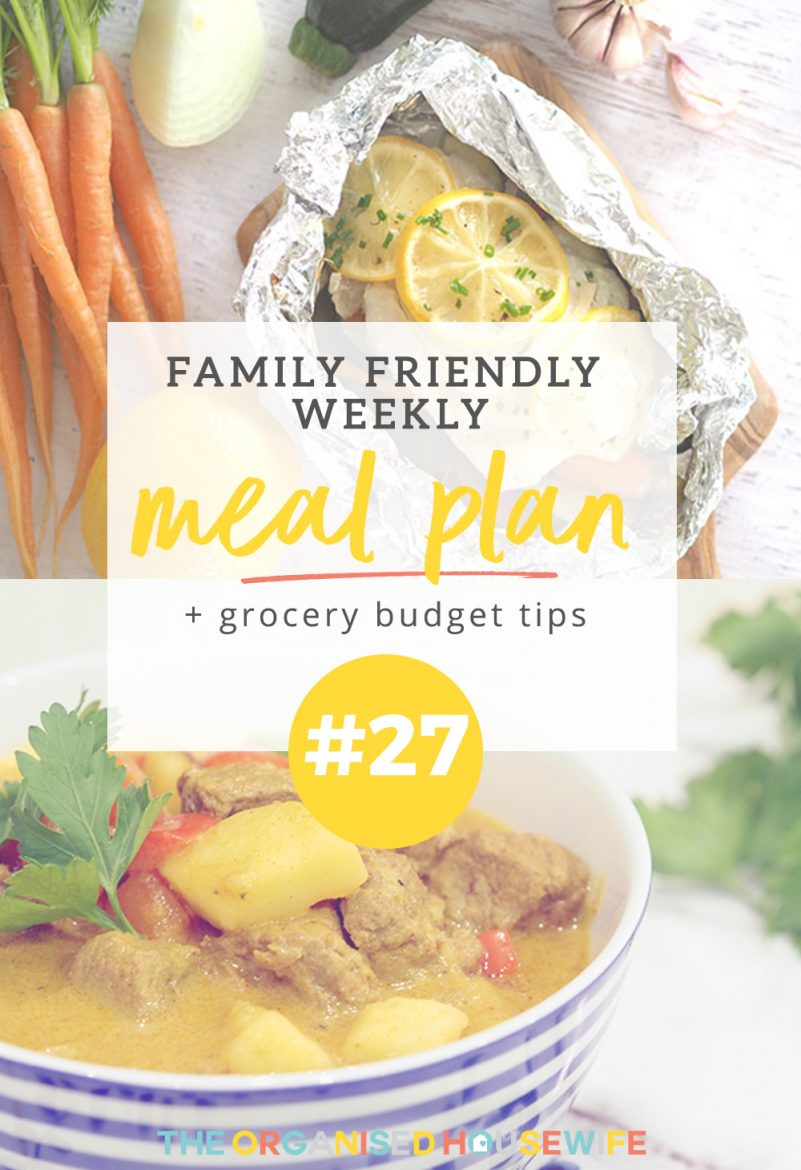 Now that the hustle and bustle of Back to school has eased it's time to get back into the regular routine and swing of things here on the blog, which includes sharing my weekly family meal plans.