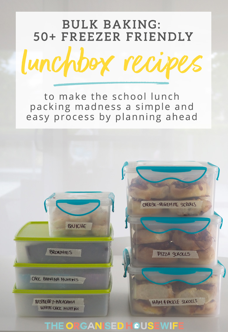 School mornings can end up chaotic, but with a little routine and planning, you can make the school lunch packing madness a simple and easy process by planning ahead and these 50+ freezer friendly lunch box recipes will make it easier for you too!