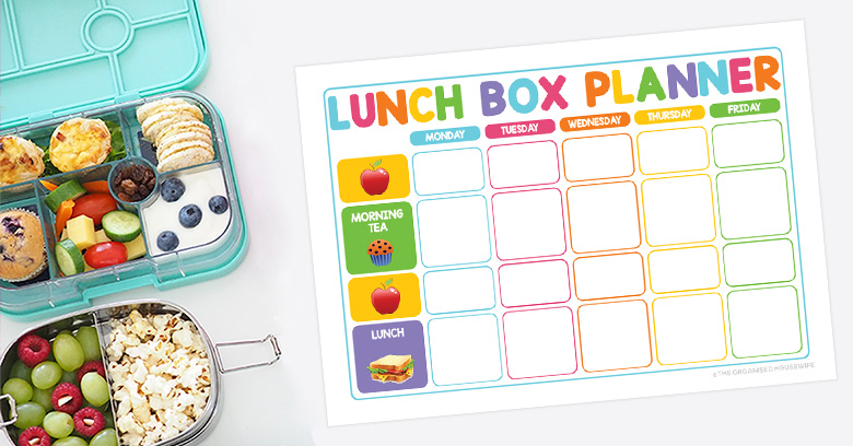 Planning food for lunch boxes is essential. Kids need to have a healthy nutritious lunch. Using this planner will ensure we have those types of food in the fridge and pantry.  At the beginning of each week, plan what food you need to add to your grocery list to fill their lunch boxes for the week. Use this planner to plan and also ensure you remember to eat the food you purchased.