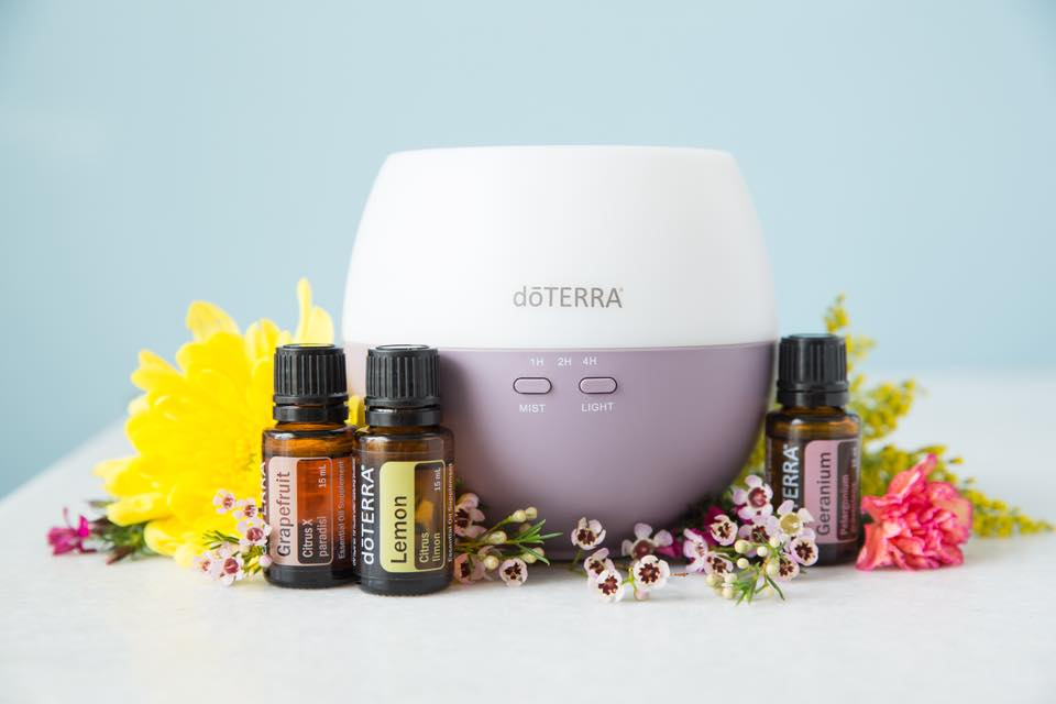doTERRA Essential Oils and diffuser