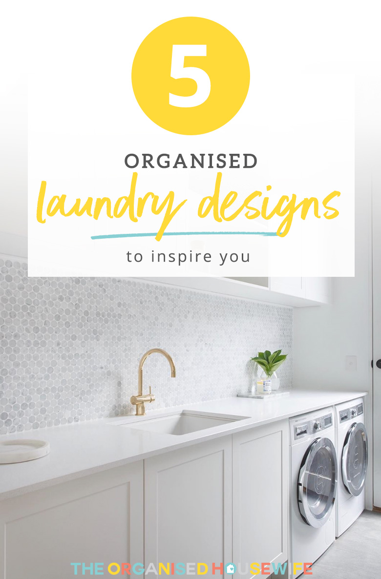 A collection of beautifully organised laundry designs, that are functional and well planned.