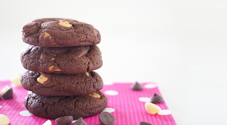 These Double Chocolate Chip Cookies are a double dose of chocolate goodness, taking the love of chocolate to a new level! Have them with your cuppa or a great afternoon snack for the kids.