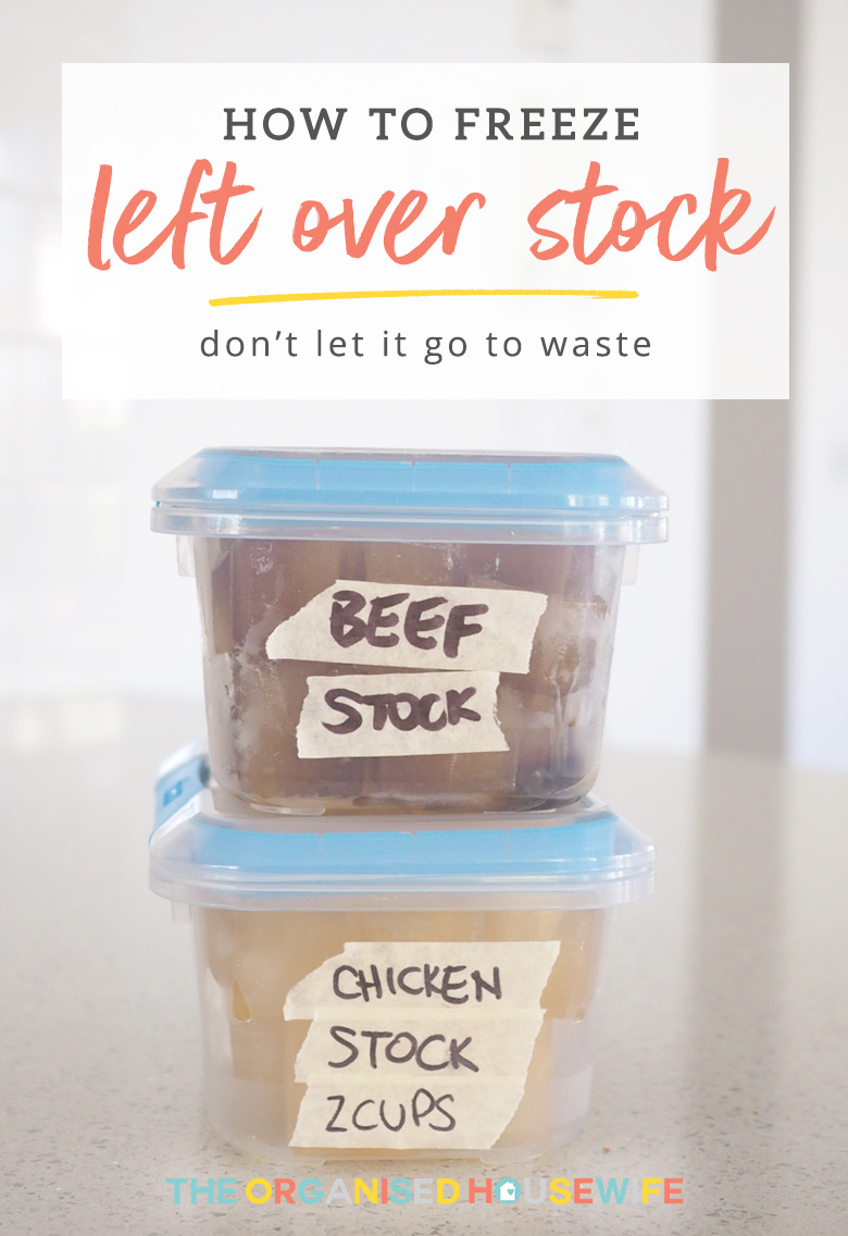 Don't waste leftover stock, here's a budget saving tip for you.... freeze it!