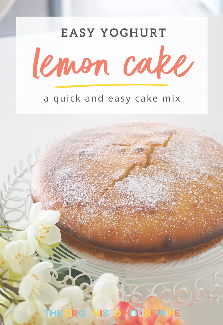 This Thermomix Lemon Yoghurt Cake is quick, easy and delicious. Perfect to have with your afternoon cuppa!