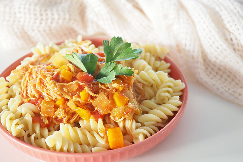 Chicken casserole slow cooker pasta recipe for families