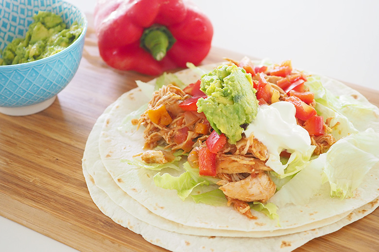 Chicken salsa burrito recipe made in slow cooker
