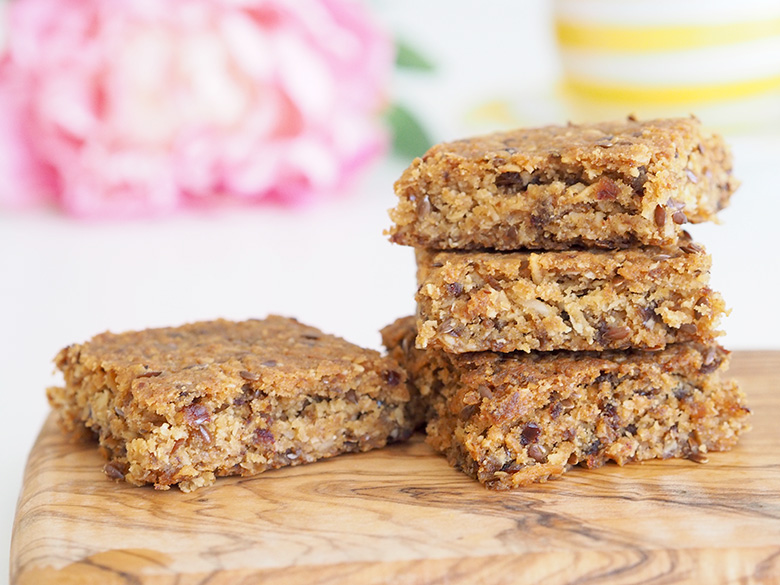 Thermomix Coconut Date Bars recipe - easy healthy snack idea
