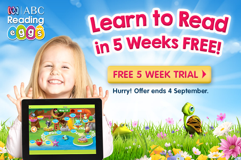 ABC Reading Eggs makes learning to read easy and fun for kids aged 2–13. The multi-award winning online reading program features hundreds of self-paced lessons, interactive activities and exciting rewards that keep kids motivated to improve their skills.