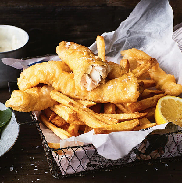 fathers day recipe idea - fish and chips