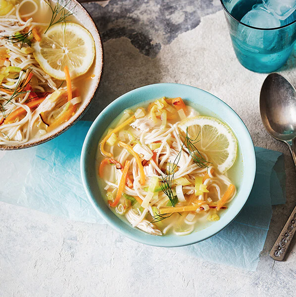 FATHERS DAY RECIPE IDEA - bbq chicken noodle soup