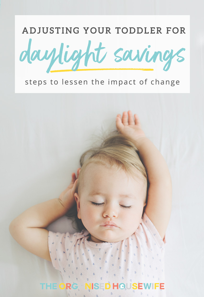 Tips to help your baby, toddler, child adjust their sleep pattern after daylight savings by Australia's favourite baby whisperer from The Baby Sleep Company.