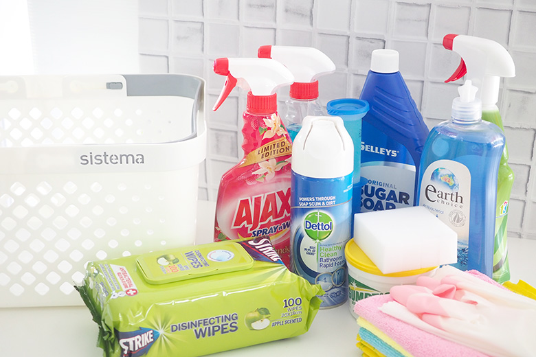 With such an abundance of cleaning products available, what do you actually need? I've put together a list of Household Cleaning Kit Essentials that you can pick up in your next grocery shop.