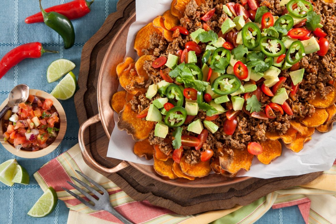 Sweet potato nacho paleo meal idea for meal planning