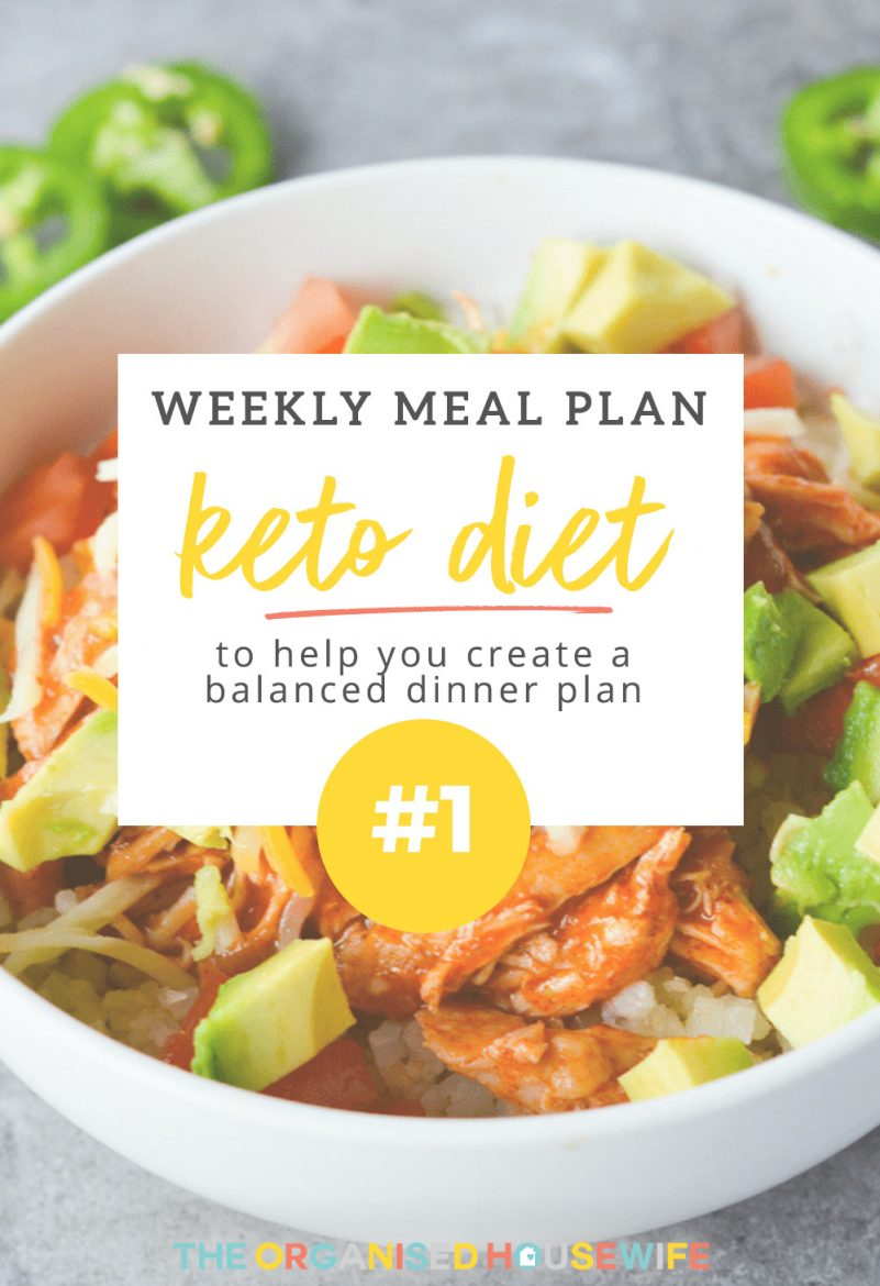Weekly Keto Meal Plan 1 The Organised Housewife