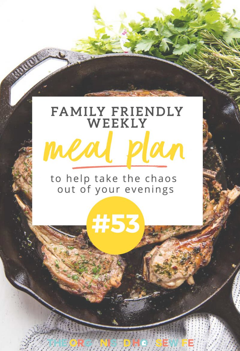 This weeks family friendly meal plan is full of child-approved meals shared by reader Allison.
