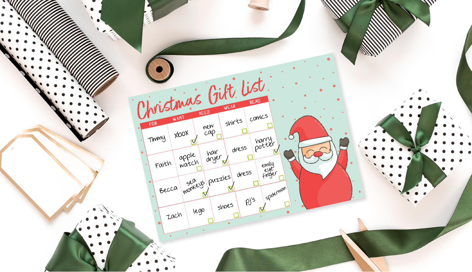 The Organised Housewife | Gift List Banner-01