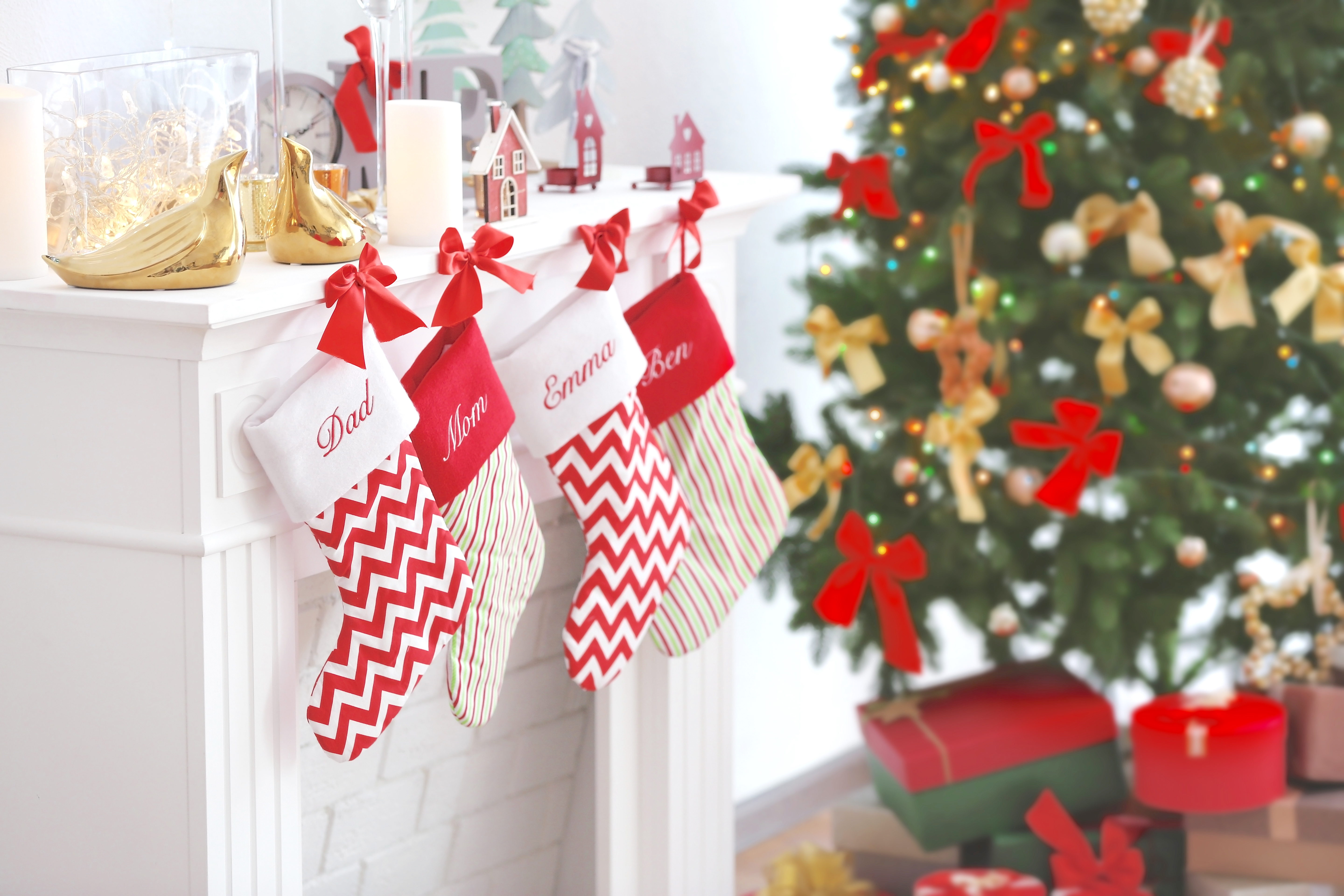 101 christmas stocking stuffer ideas the organised housewife - Pictures Of Decorated Christmas Stockings