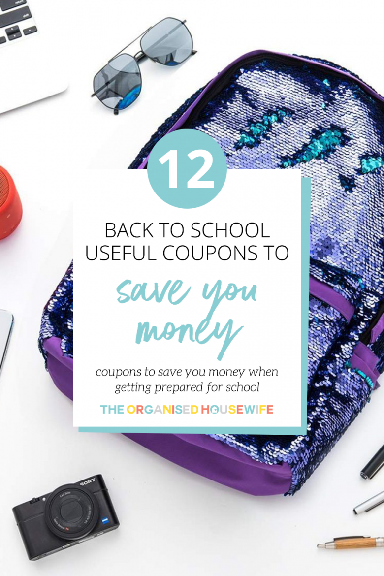 Getting the kids ready for the new School year can be expensive, especially if you have more than one child. Luckily, I have some great savings available on my coupons page that will help you save money on back to school items and get your kids back to school ready with things like stationery, school bags, lunchboxes, labels and much much more.