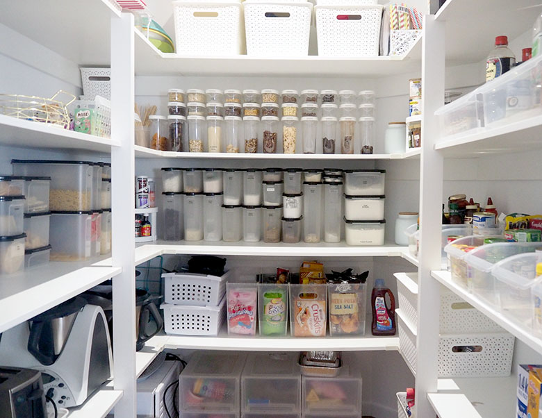 Organise panty. Create order and save money with organised food cupboard.
