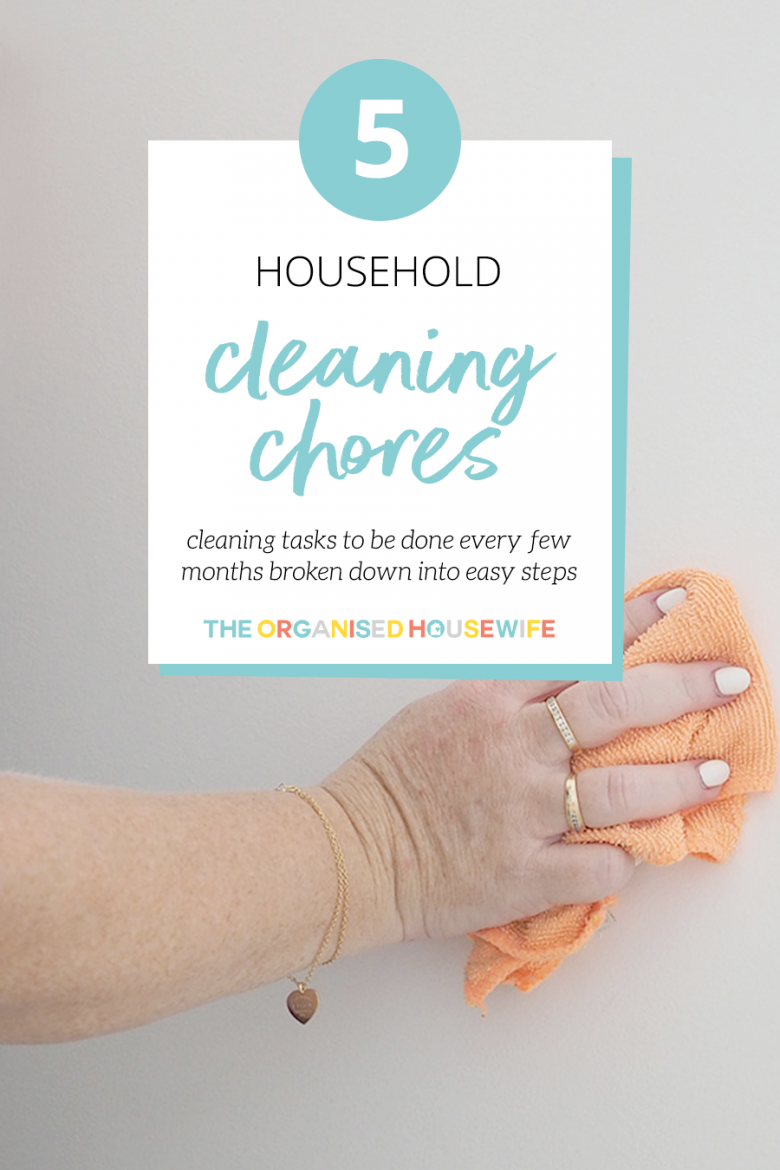 Cleaning chores for the home. Household tips.