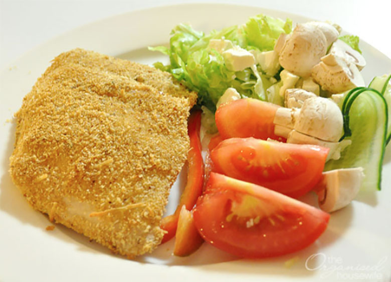 Crispy oven baked fish meal idea for families
