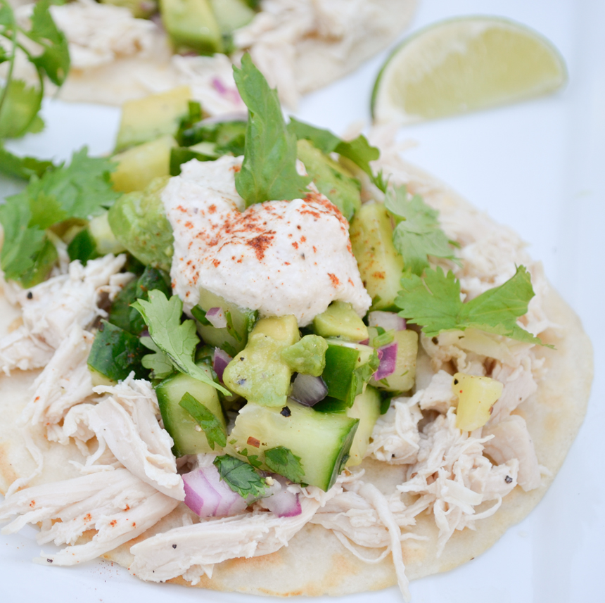 Chicken tacos. Paleo meal idea for family.