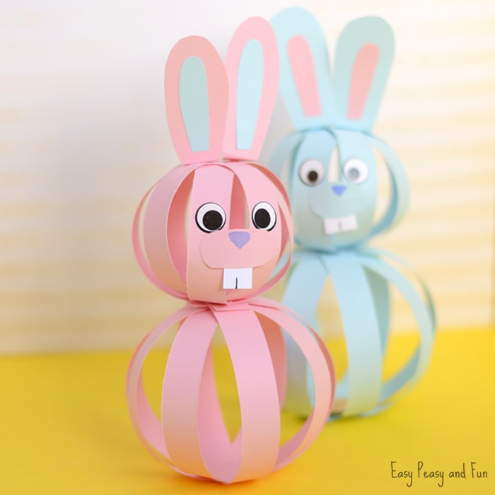 2019 Cute Paper Easter Bunny Craft Ideas for Kids