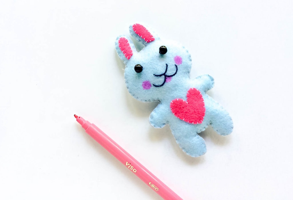 Kids Craft Ideas Felt Easter Bunny DIY for 2019