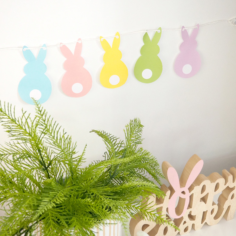 Easter bunny bunting DIY craft idea make at home