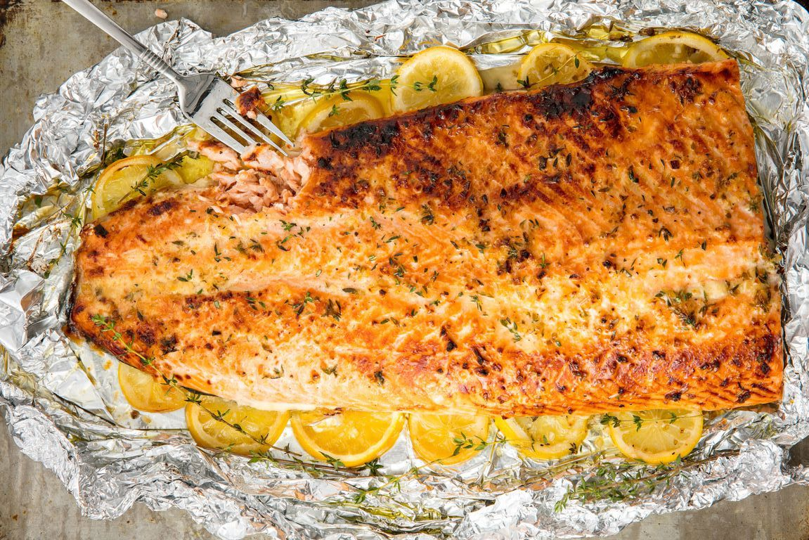 Family Paleo meal plan ideas. Salmon for the family. Baked salmon.