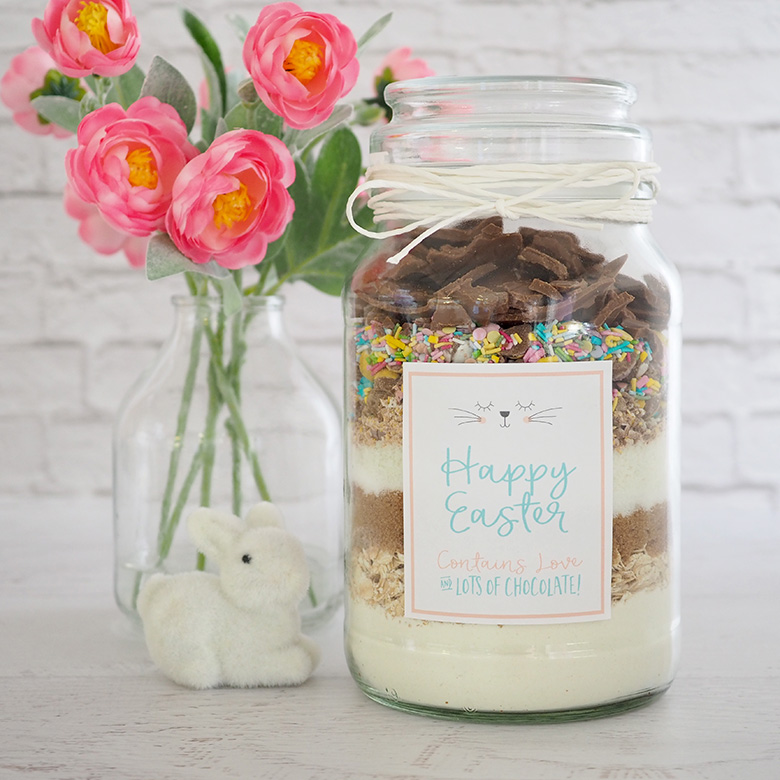 Homemade Easter Gift Idea DIY Cookie Mix with Labels