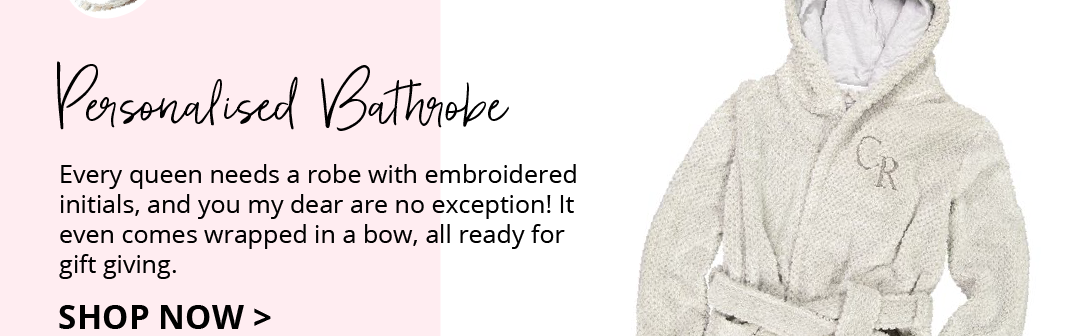 Personalised bathrobe for mum this Mothers Day. Part of our Mothers Day Gift Guide 2019.