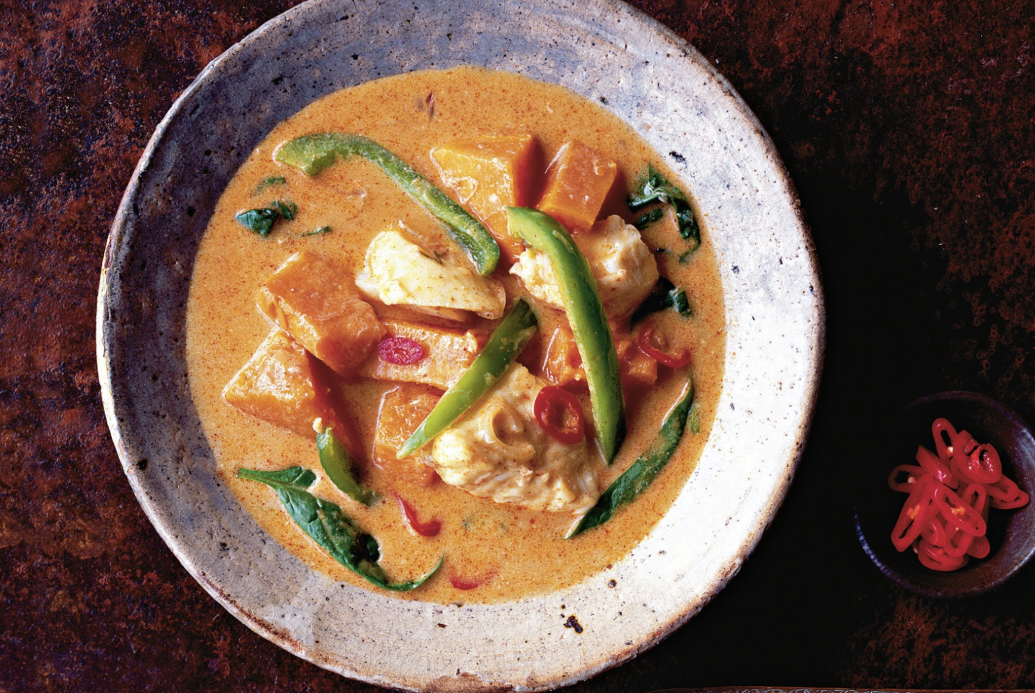 Thai fish and pumpkin soup recipe