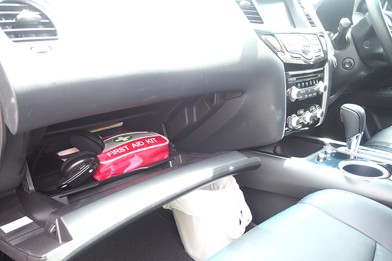 Tidy and organise glovebox - declutter task