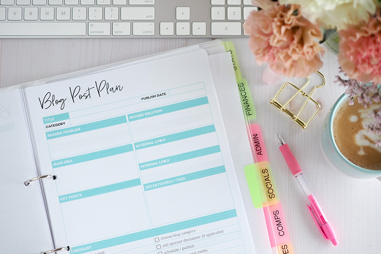 Planning a blog and making it succeed - The Organised Housewife Blog Planner