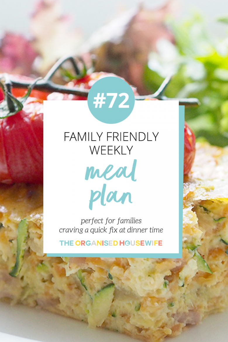 Family Friendly meal plan ideas
