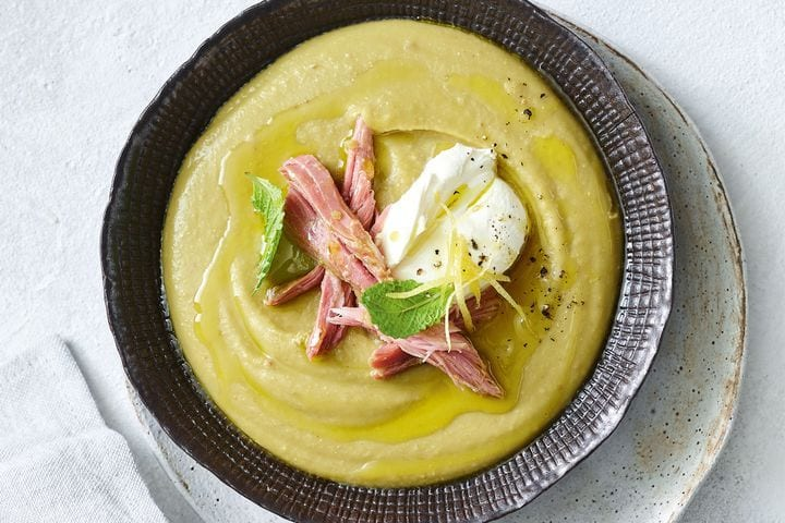 Slow cooker pea and ham soup recipe