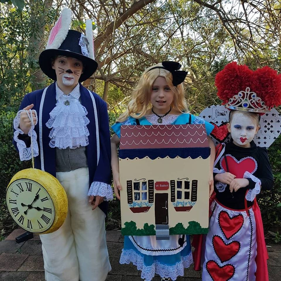 White Rabbit, Alice in Wonderland, and the Queen of Hearts Costume Ideas for Book Week 2019