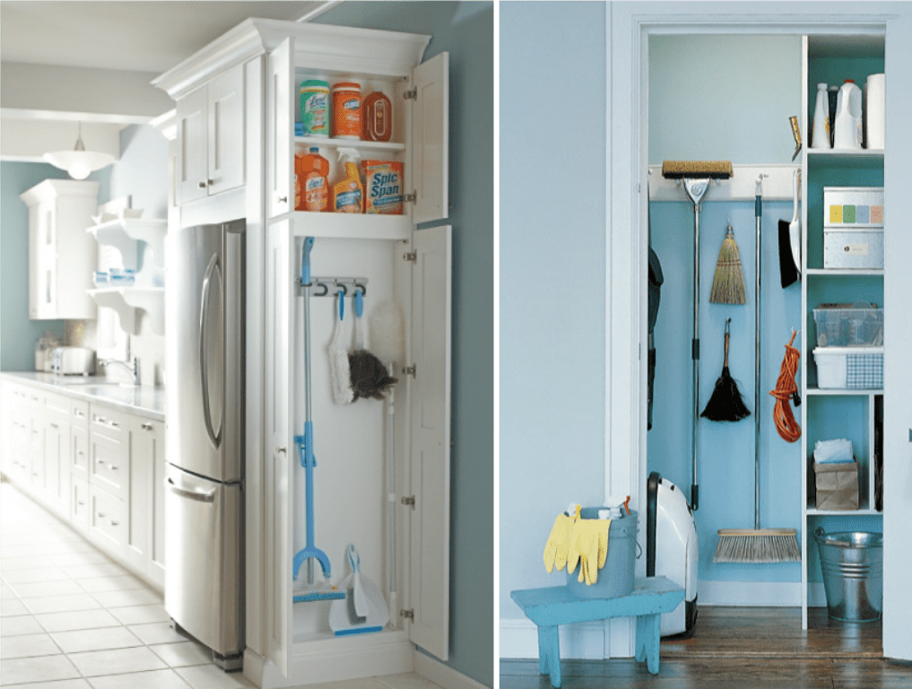 Broom closet and cupboard inspiration