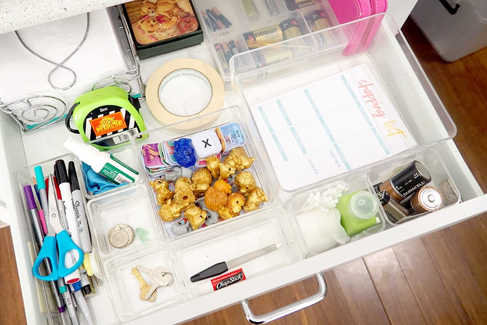 how to organise the junk drawer