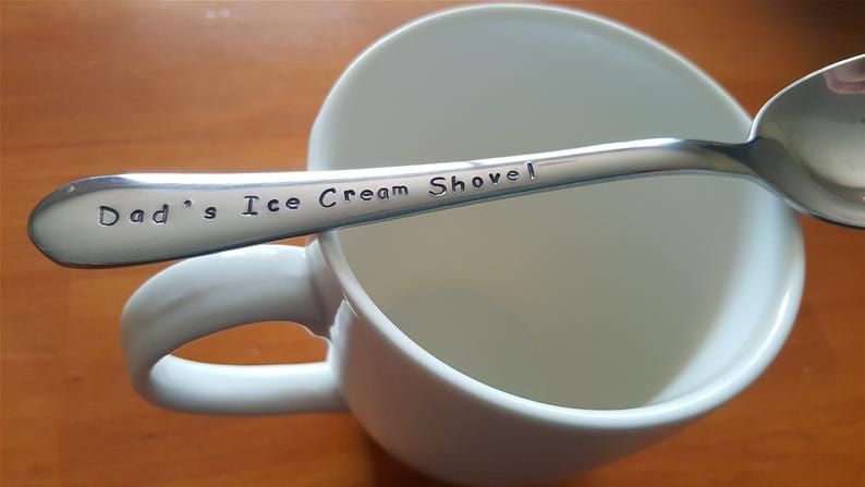 Personalised engraved spoon for Dad or Grandad on Father's Day