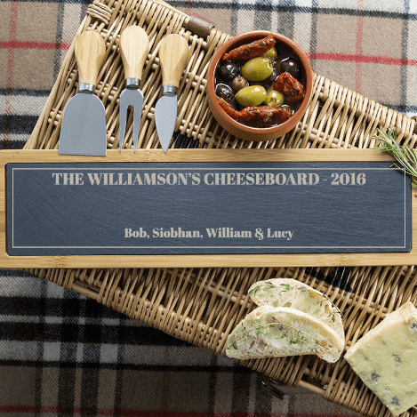 Personalised cheese platter for dad for Father's Day