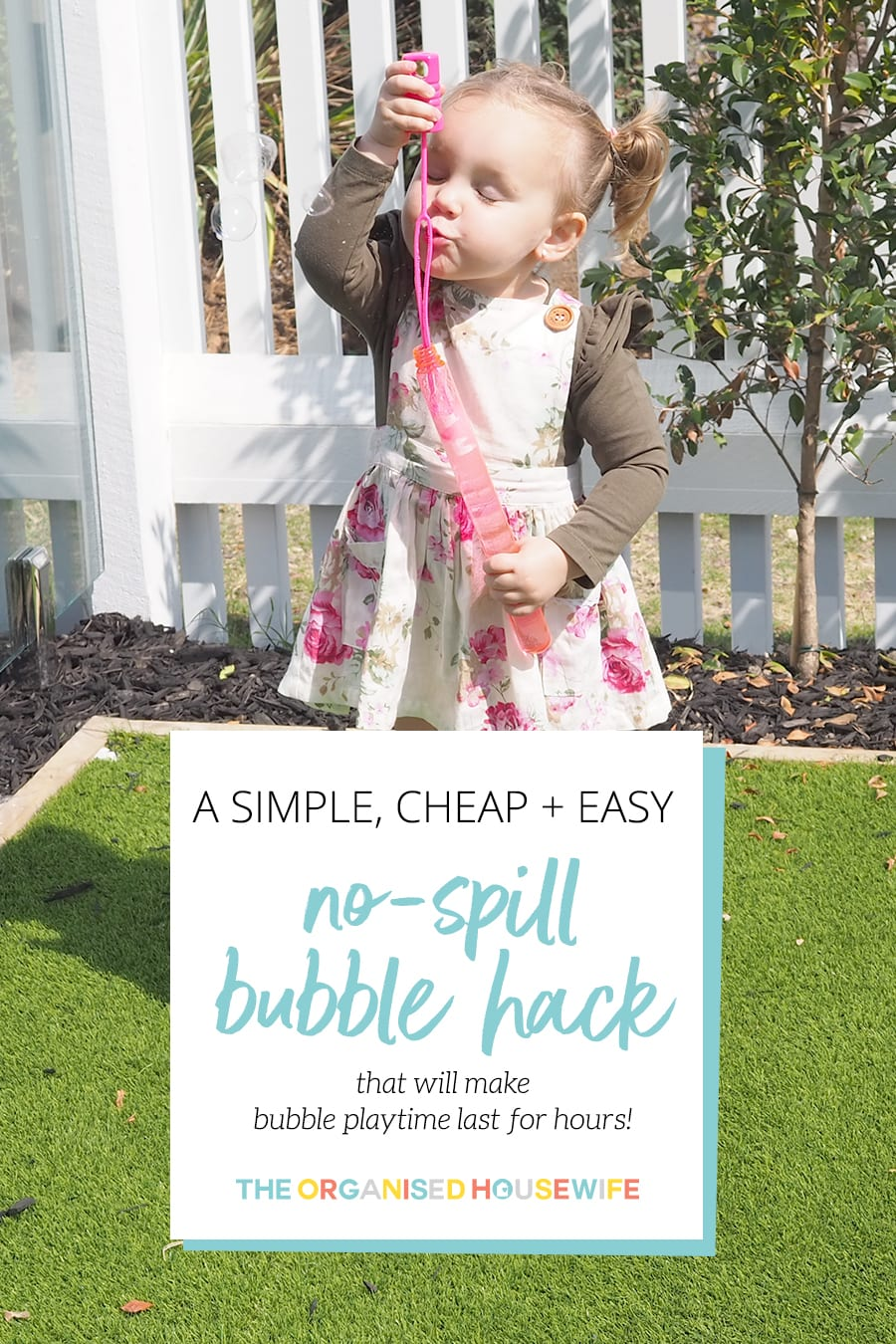 No spill bubble hack for parents that is simple cheap and easy