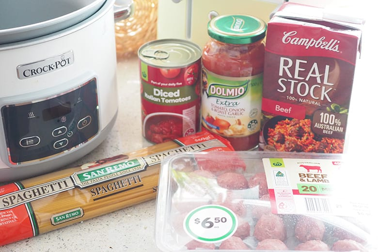 Simple meatball meal for busy families