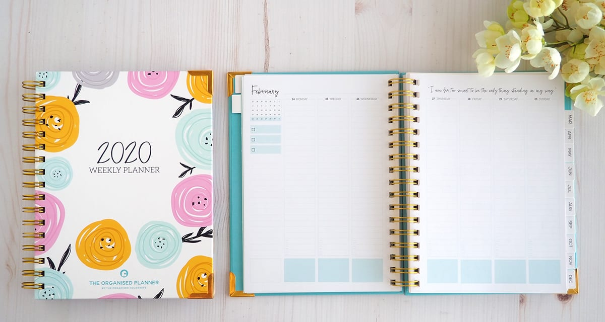 The 2020 Weekly Planner The Organised Housewife